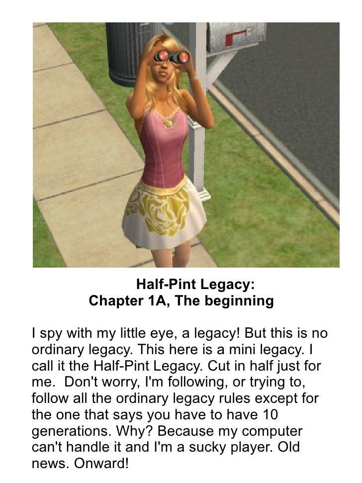 Half-Pint Legacy: Chapter 1