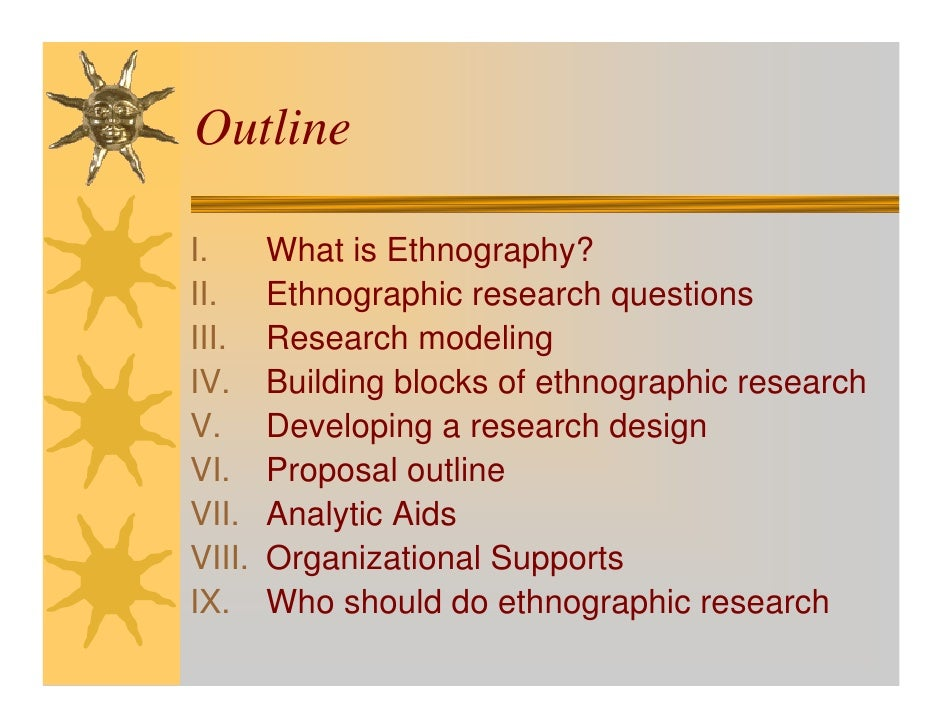 Ethnography essays