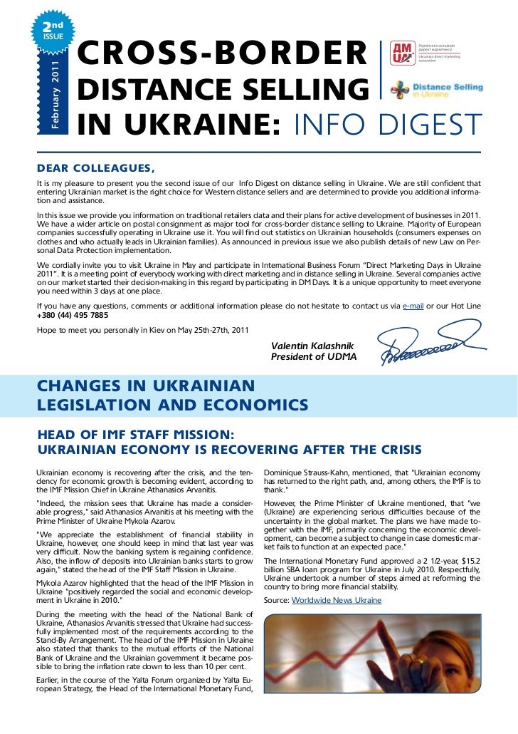 2nd Issue   February 2011                   CROSS-BORDER                   DISTANCE SELLING                   IN UKRAINE: ...