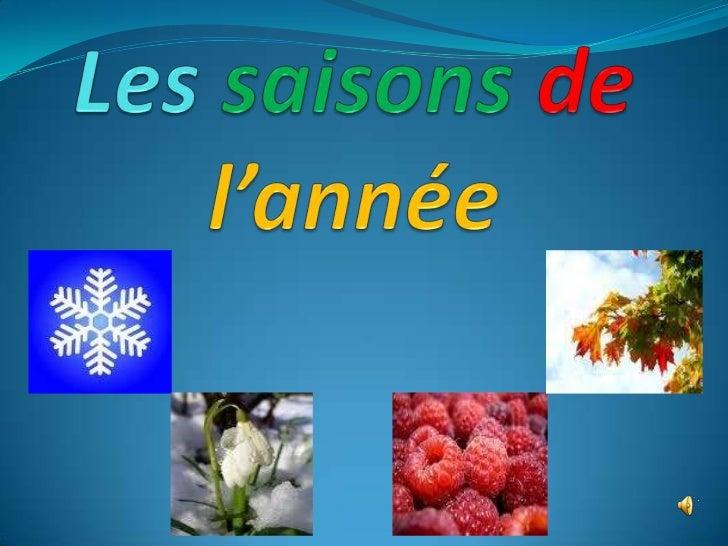 урок французької мови «Les saisons de l'année»