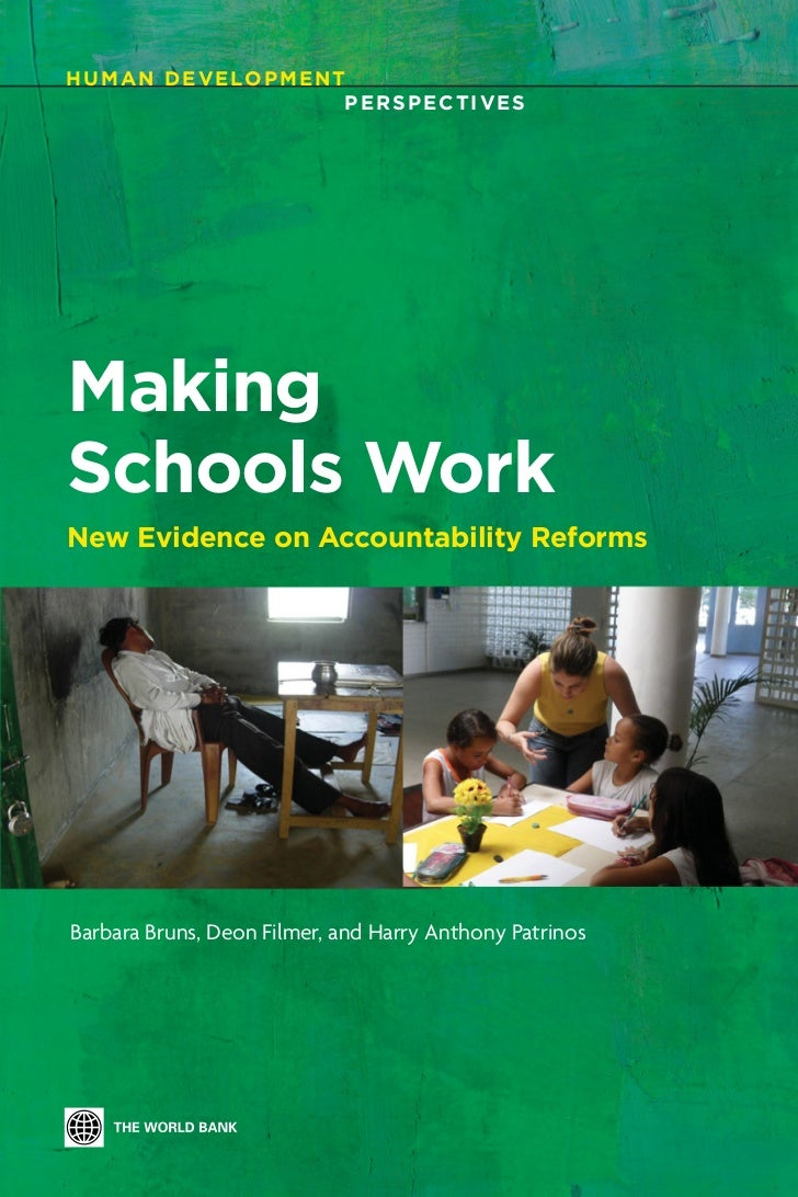 H U M A N D E V E LO P M E N T                              PERSPECTIVESMakingSchools WorkNew Evidence on Accountability R...