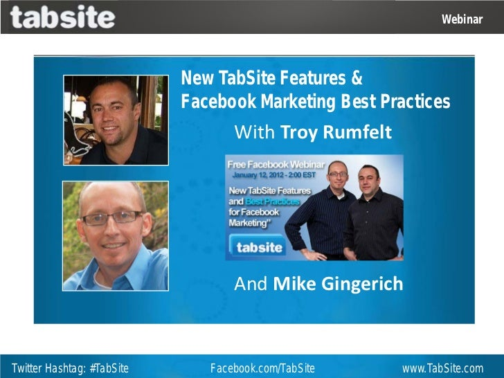 TabSite new Features and Facebook Marketing Tips for 2012