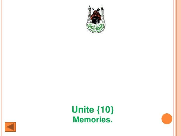 Unite {10}Memories.