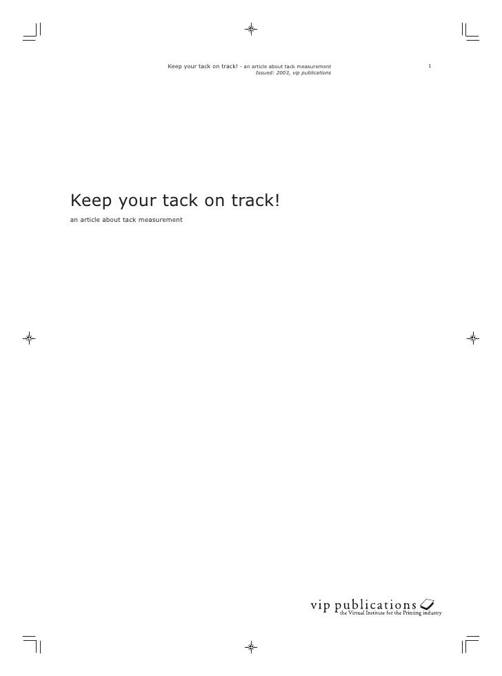 Keep your tack on track! - an article about tack measurement     1                                                        ...