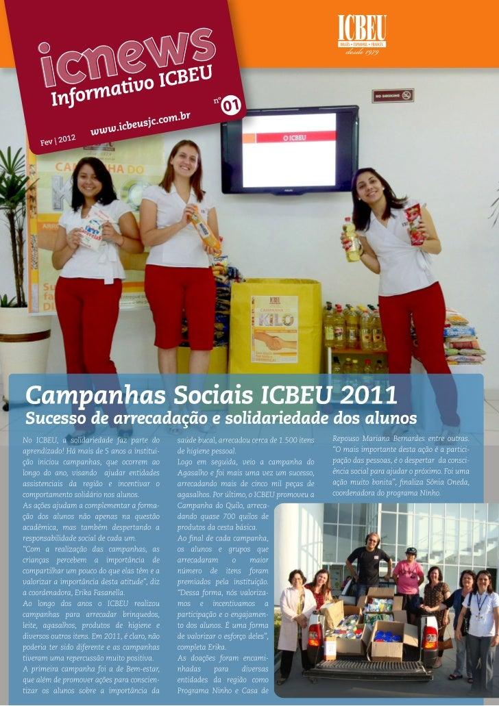 Edição 1 do ICNews - informativo do ICBEU São José dos Campos