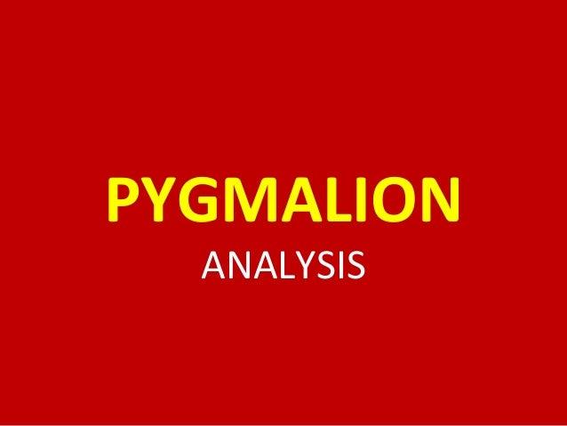 Pygmalion: Analysis