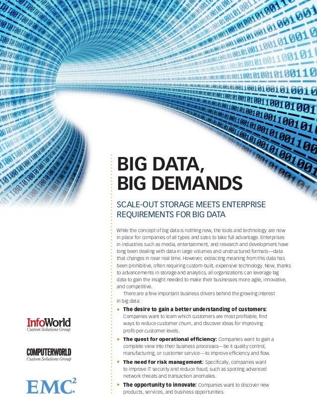 Big Data, Big Storage Demands