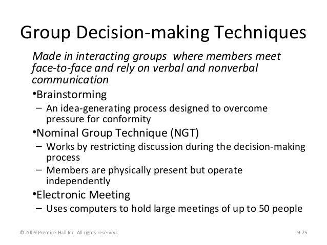 decision making technique brainstorming essay