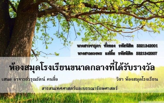 [report] Thai school library medium 2010 (award)