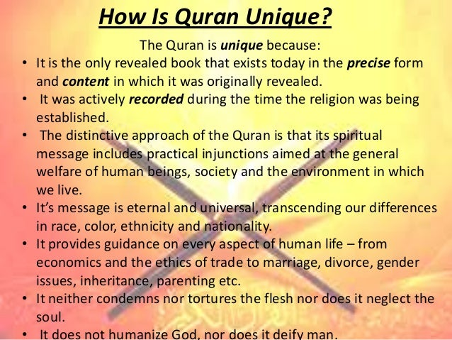 short essay on holy quran
