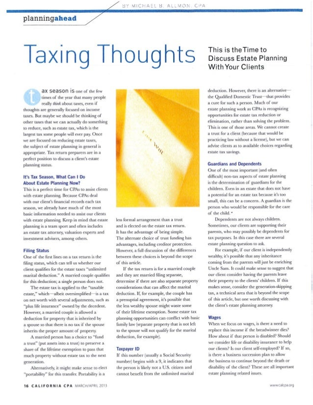 Taxing Thoughts