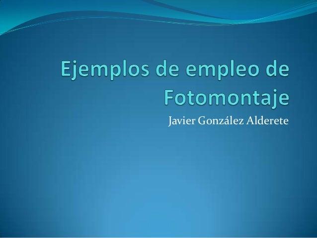 Javier González Alderete