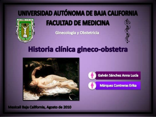 Historia clínica Gineco-Obstetra