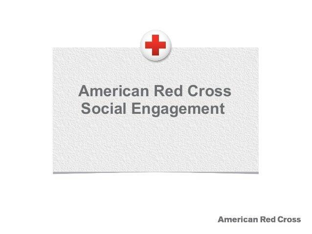 American Red Cross Social Engagement