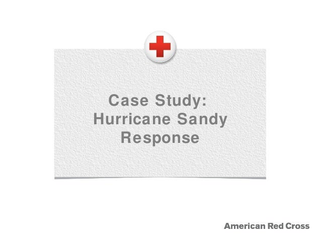 1.4 Case study: Hurricane Sandy response