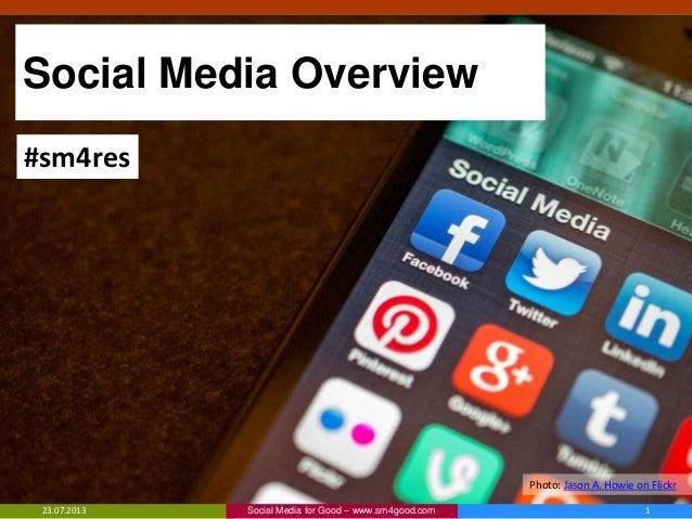 Social Media Basics for Disaster Response Organizations