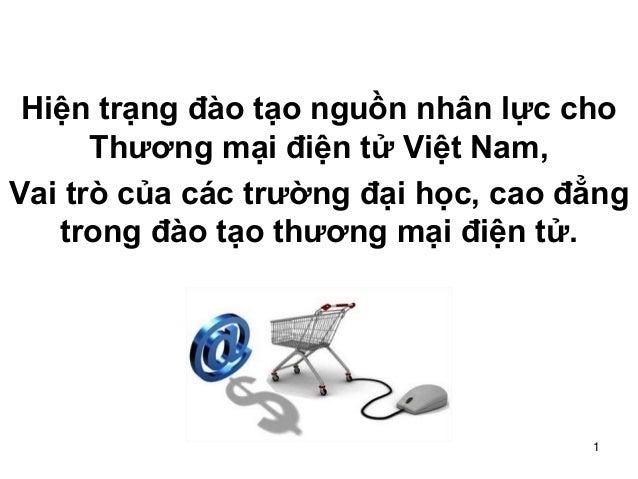 1 Hiện trạng đào tạo nguồn nhân lực cho Thương mại điện tử Việt Nam, Vai trò của các trường đại học, cao đẳng trong đào tạ...