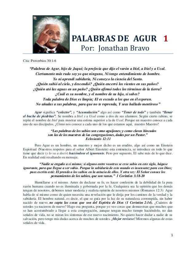 PALABRAS DE AGUR 1