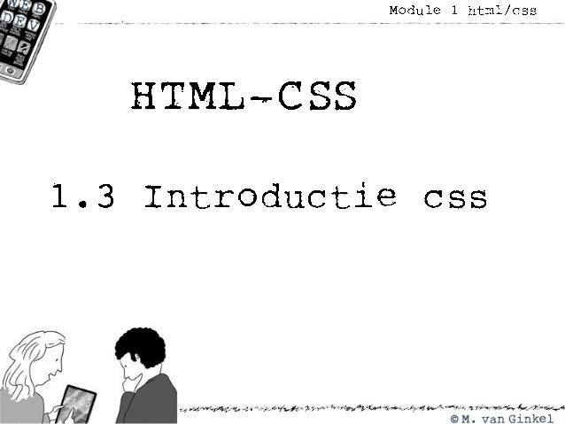 HTML module 1.3 introductie css