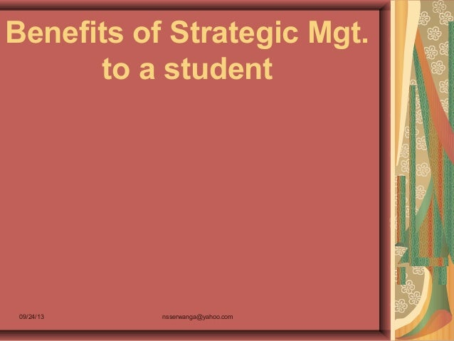 1.5 benefits of strategic mgt