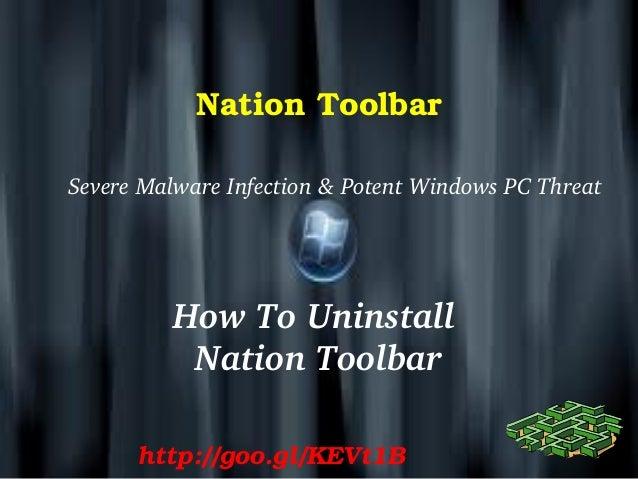 Nation Toolbar: Delete Nation Toolbar