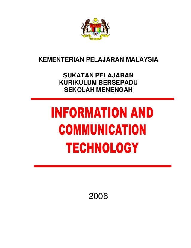 KEMENTERIAN PELAJARAN MALAYSIA SUKATAN PELAJARAN KURIKULUM BERSEPADU SEKOLAH MENENGAH 2006