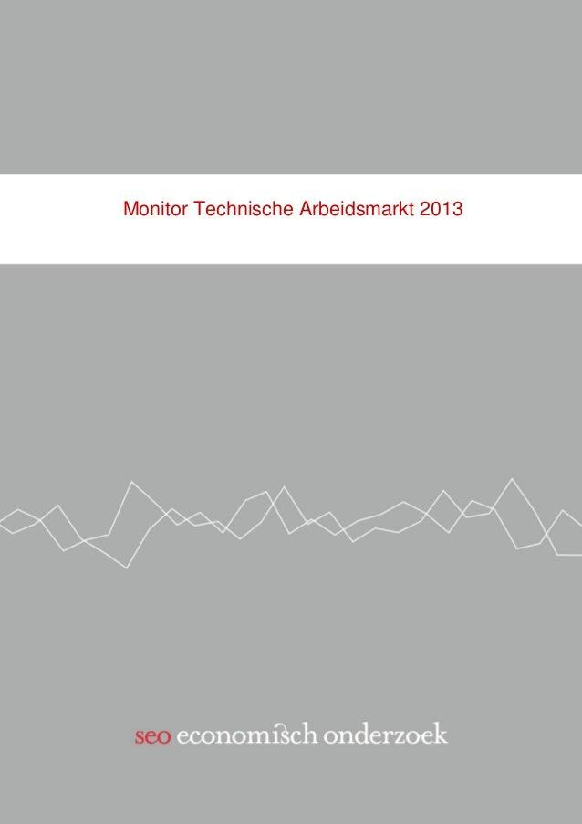 Monitor Technische Arbeidsmarkt 2013