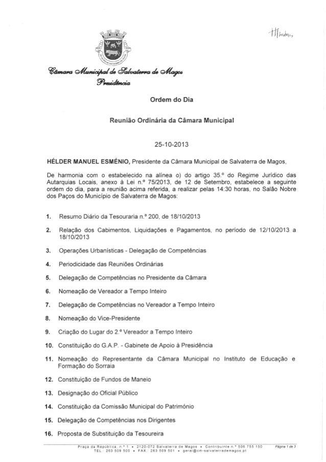 CMSM - Reunião (25 Outubro de 2013)