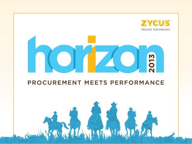 Horizon 2013 Zycus Vision