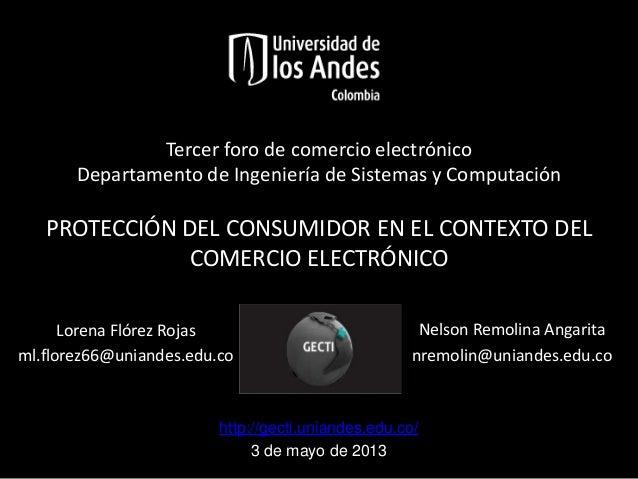 #1.Protección del consumidor en el contexto de comercio Electrónico.