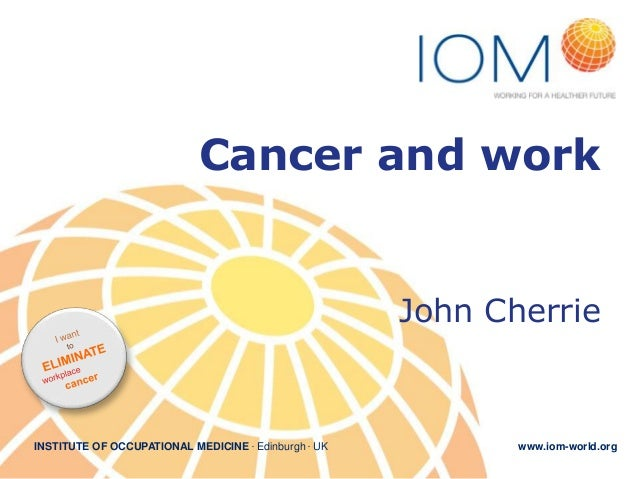 1. Cancer and work