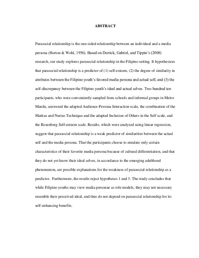 Dissertation on parasocial relationships