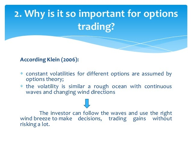 Option volatility trading strategies and risk pdf