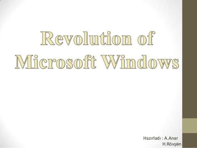 Revolution of the Microsoft Windows