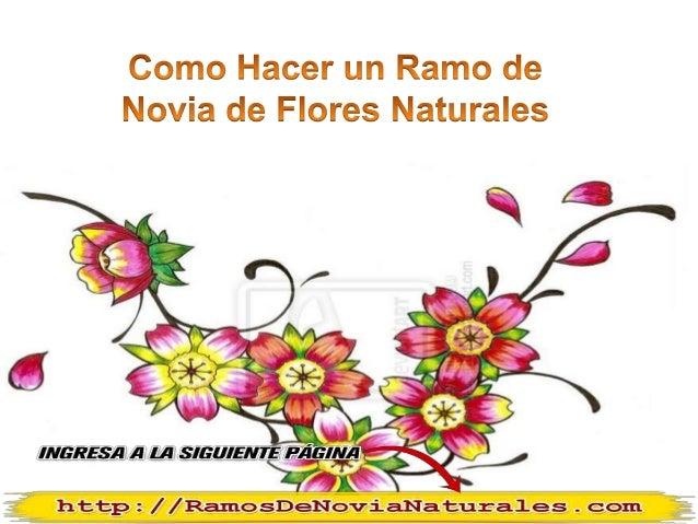 Como hacer un ramo de novia de flores naturales - Como hacer ramos de flores ...