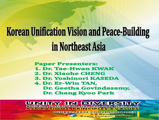 One Korea Unification Vision through Neutralization: What Should Be Done?  By  Tae-Hwan Kwak, Ph. D. (Chairman, Institute ...