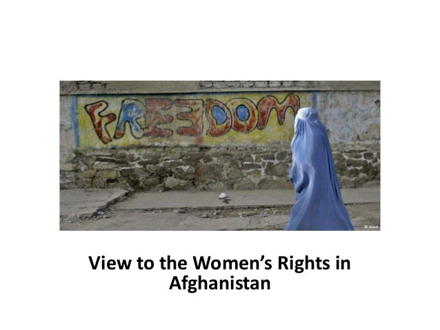 View to the Women's Rights in Afghanistan