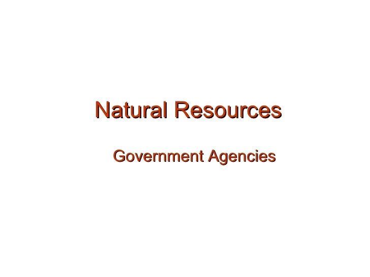 Natural Resources Government Agencies