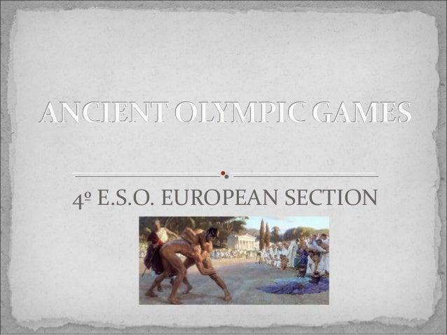 4º E.S.O. EUROPEAN SECTION