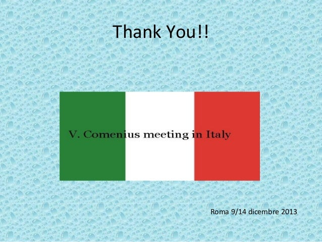 Thank You In Italian