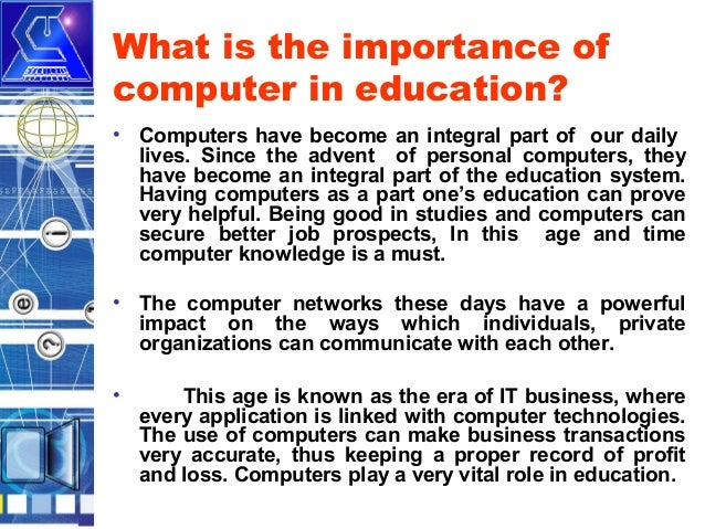 introduction of computer in our daily life Get an answer for 'what are the advantages and disadvantages of computers' and in our daily lives is of life the use of computer.