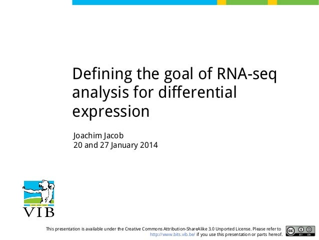 RNA-seq: general concept, goal and experimental design - part 1