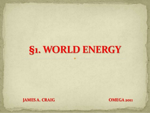 1. World Energy