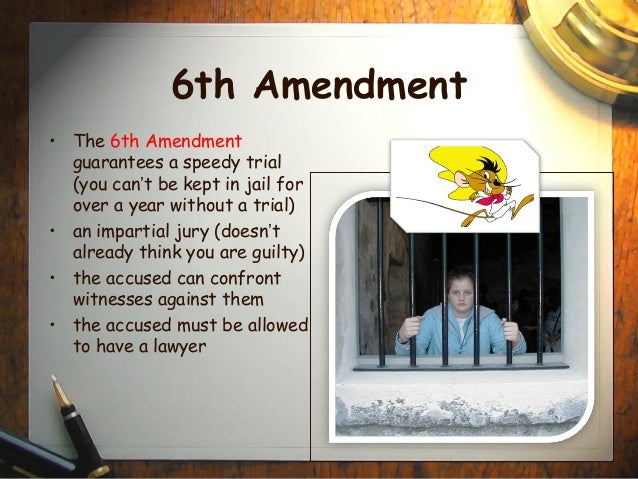 6th amendment paper These sixth amendment court cases are important to the way the supreme court has interpreted the confrontation clause of the us constitution.