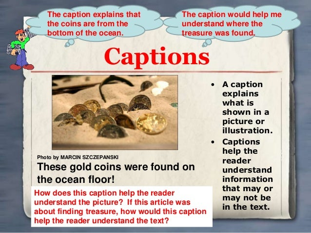 ... In A Nonfiction Book Text and graphic features for nonfiction text