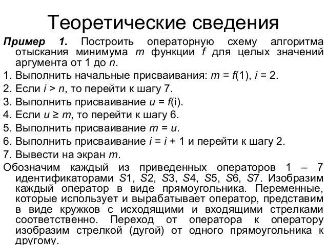 Теоретические сведения Пример
