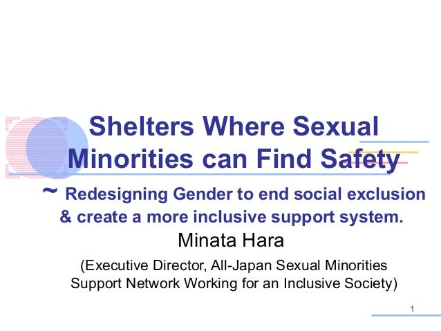 Shelters Where Sexual Minorities can Find Safety ~ Redesigning Gender to end social exclusion & create a more inclusive su...