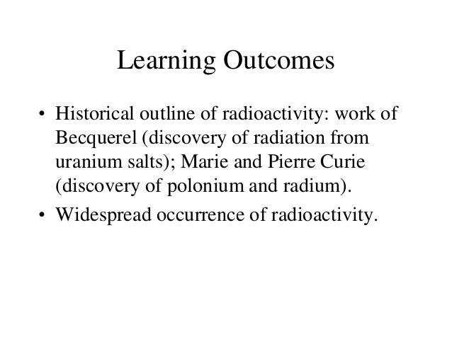1.3 radioactivity