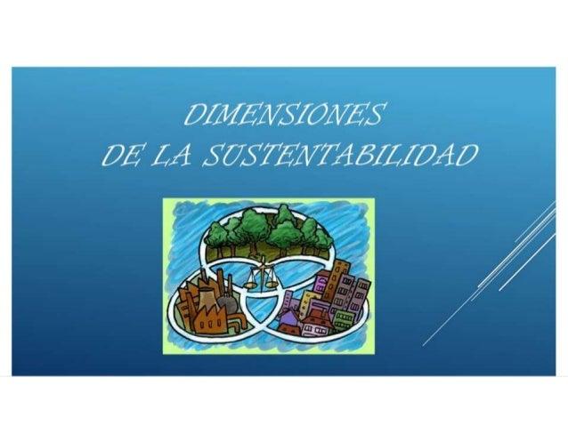 1.3 dimensiones de la sustentabilidad