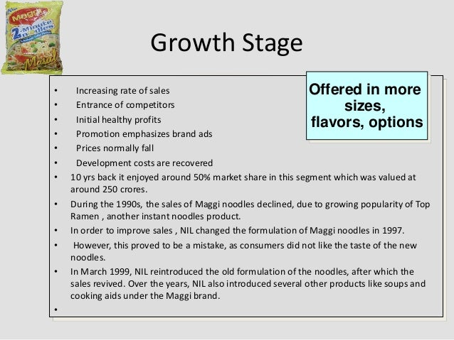 market segmentation of a product maggi Return to market edit in india, maggi products were returned to the shelves in november 2015, accompanied by a nestl.